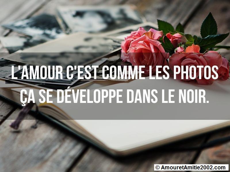 l'amour c'est comme les photos