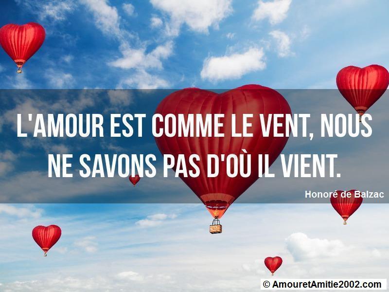 l'amour est comme le vent nous ne savons pas d'où il vient