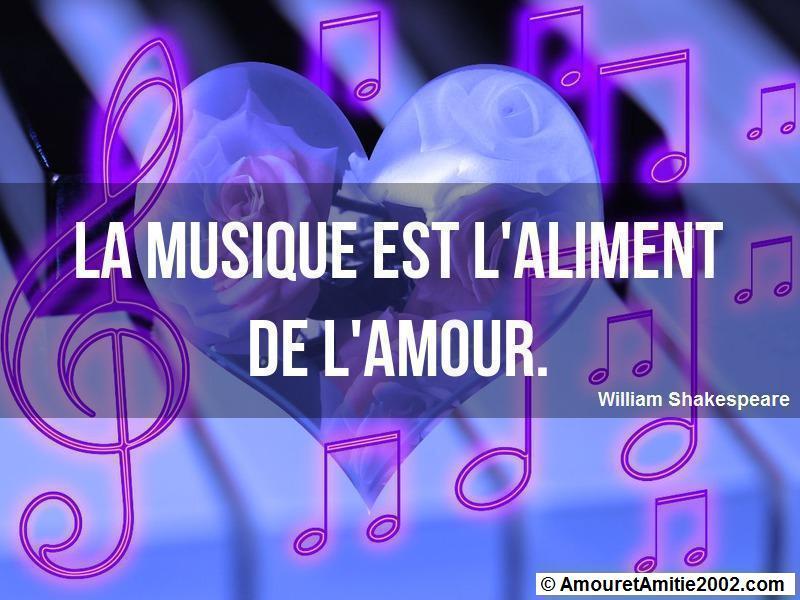 la musique est l'aliment de l'amour
