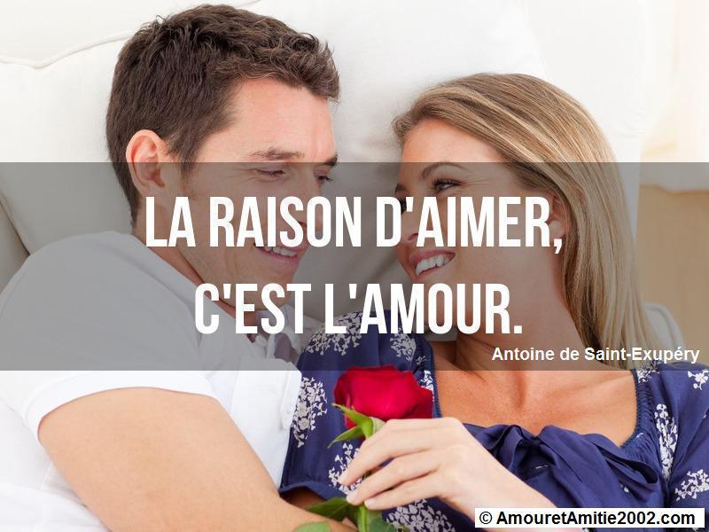 la raison d'aimer c'est l'amour