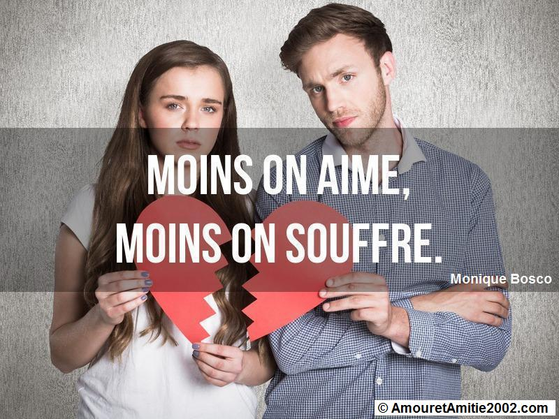 moins on aime moins on souffre