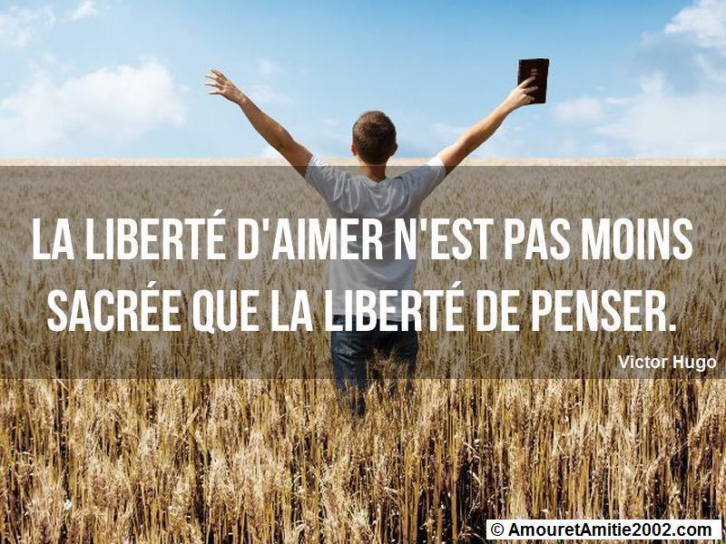 la liberté d'aimer