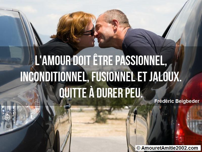 l'amour doit être passionnel