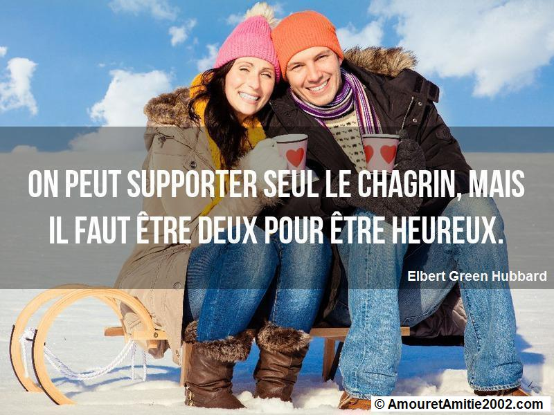 on peut supporter seul le chagrin