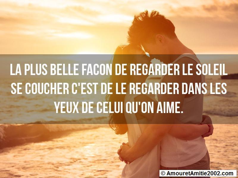 Citation Amour La Plus Belle Facon De Regarder Le Soleil Se Coucher
