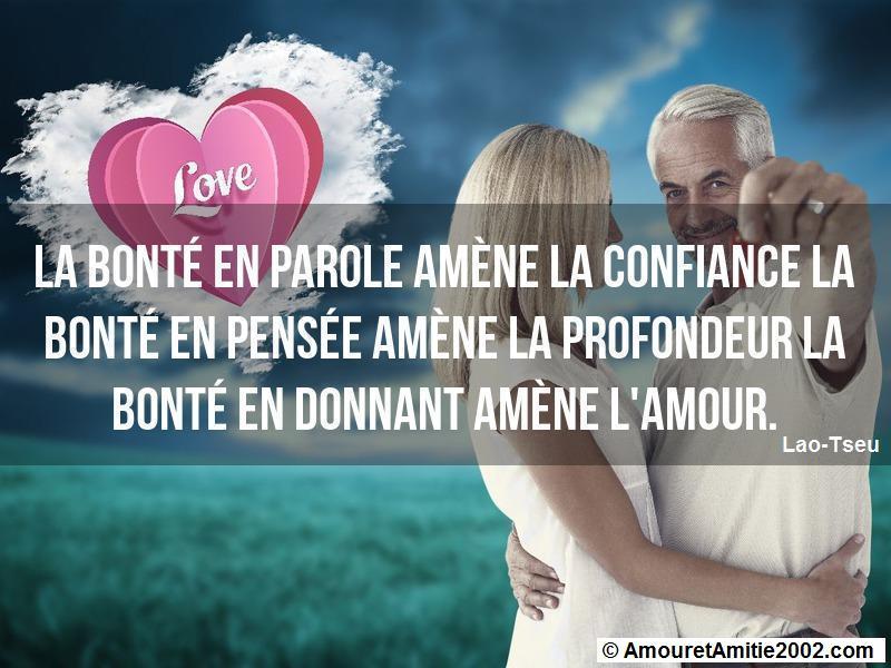 Citation Amour La Bonté En Parole Amène La Confiance