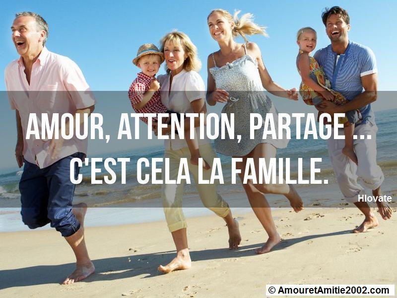 amour attention partage c'est cela la famille