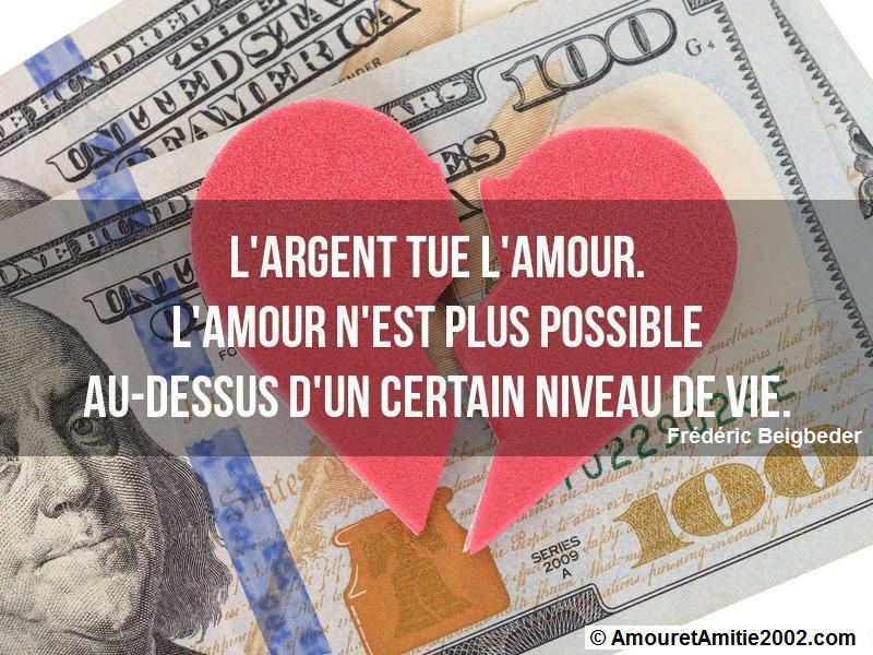 l'argent tue l'amour