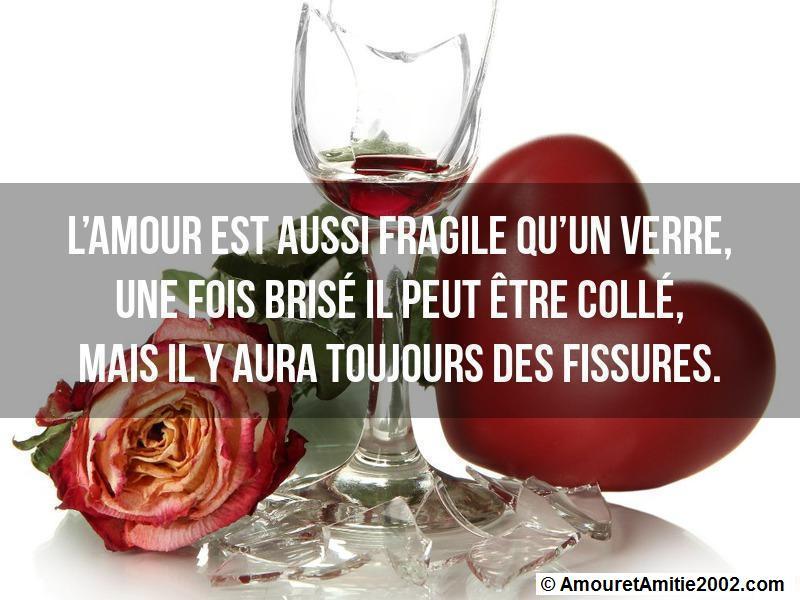 l'amour est aussi fragile qu'un verre