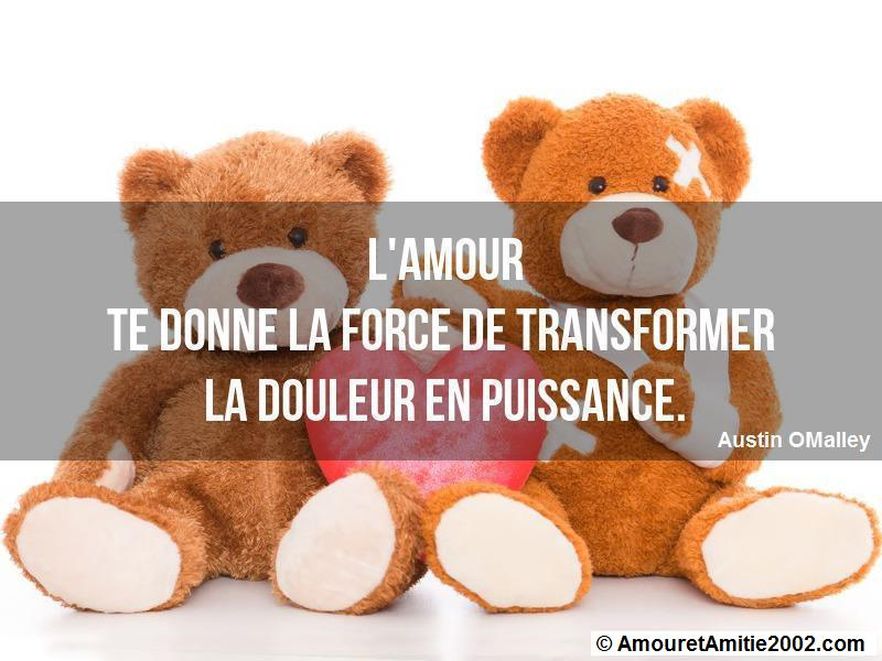 l'amour te donne la force