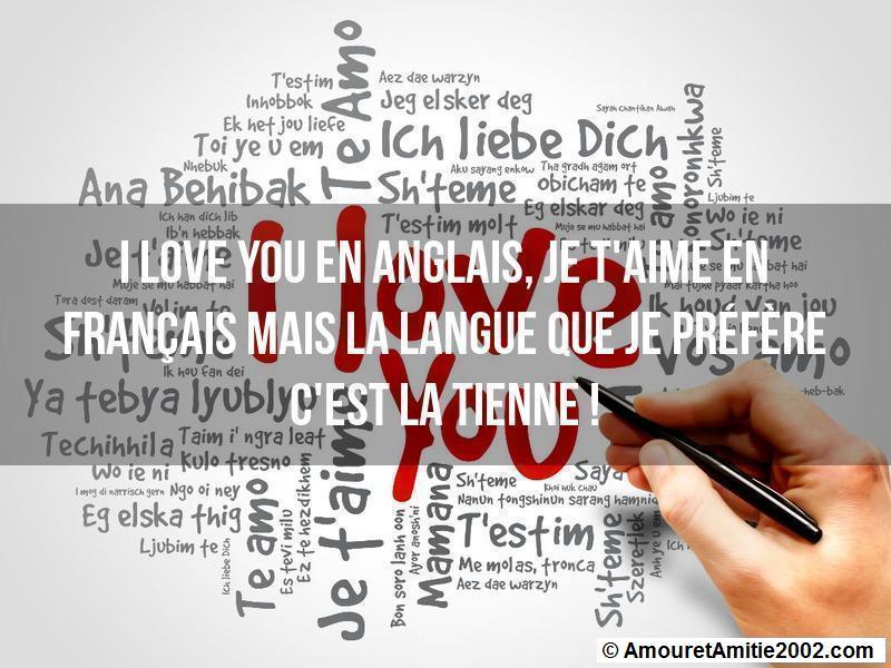 I love you en anglais je t'aime en français