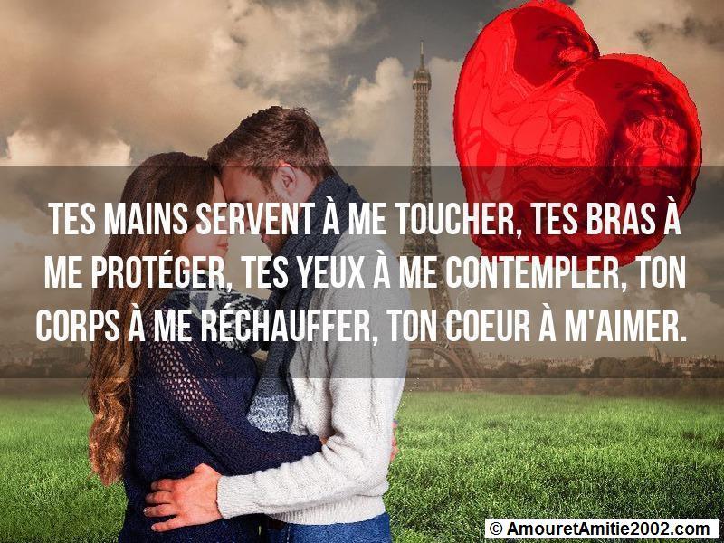 tes mains servent à me toucher