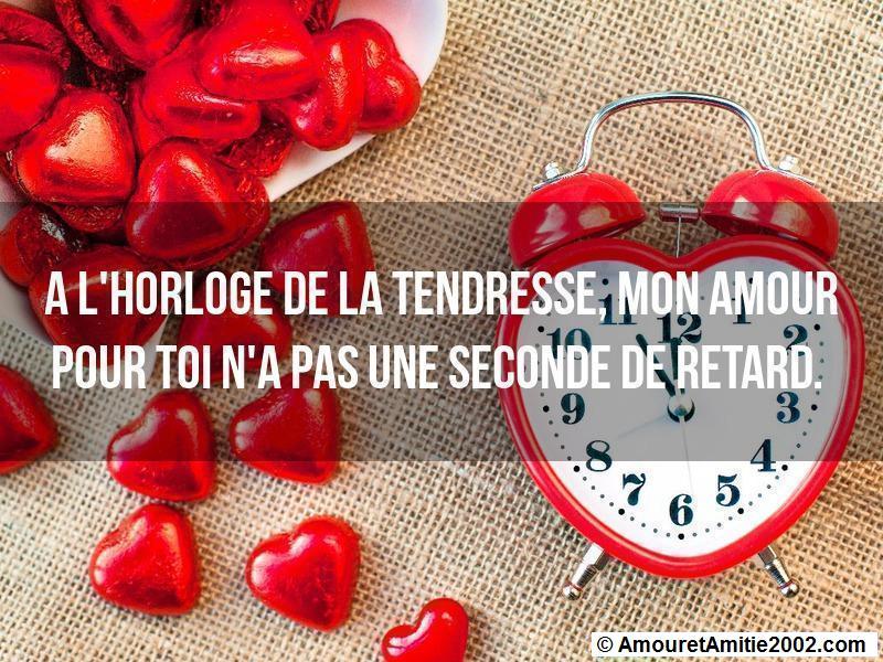 à l'horloge de la tendresse mon amour pour toi