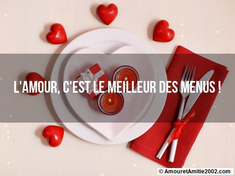 l'amour c'est le meilleur des menus