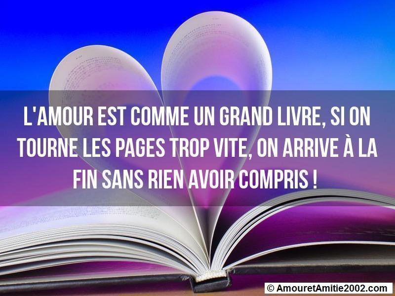 l'amour est comme un grand livre
