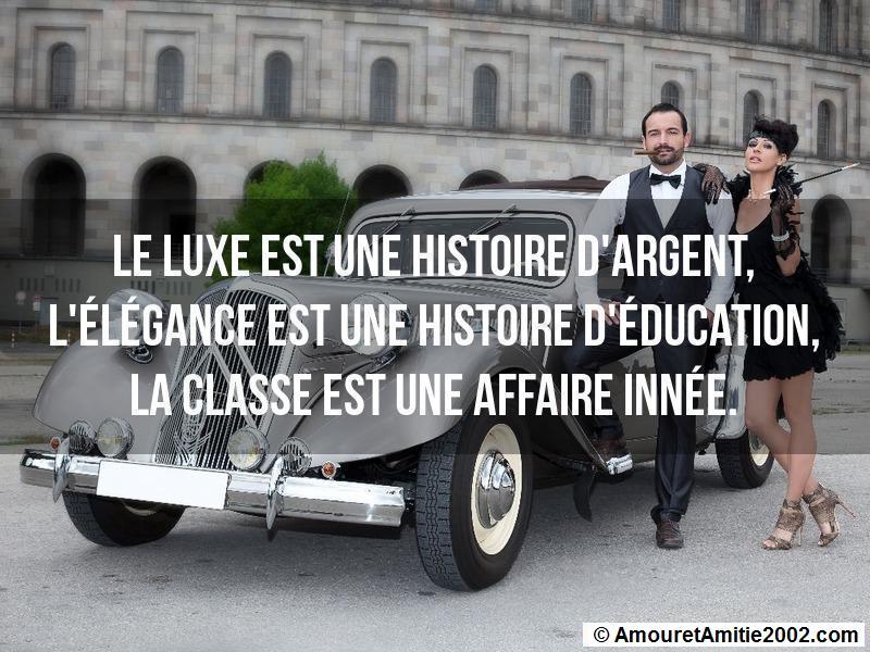le luxe est une histoire d'argent