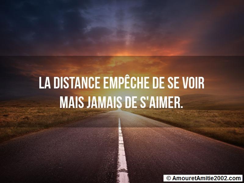 la distance empêche de se voir