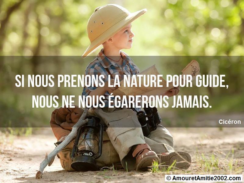 si nous prenons la nature pour guide