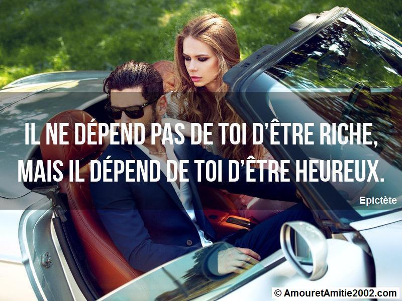 il ne dépend pas de toi d'être riche