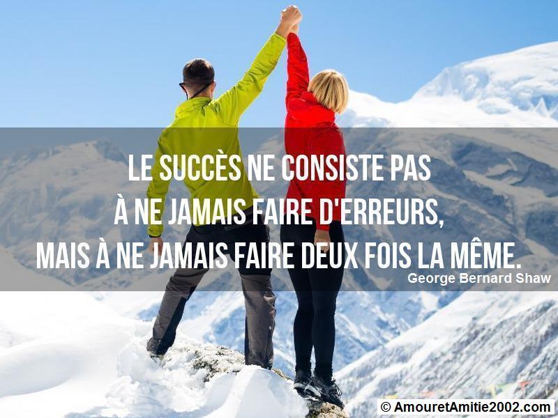 le succès ne consiste pas à ne jamais faire d'erreurs