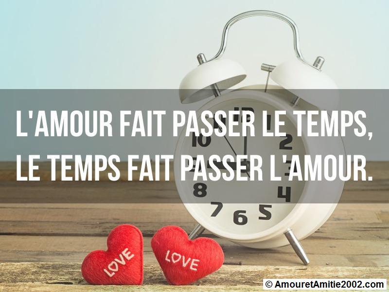 l'amour fait passer le temps