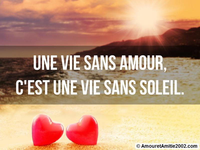 une vie sans amour c'est une vie sans soleil