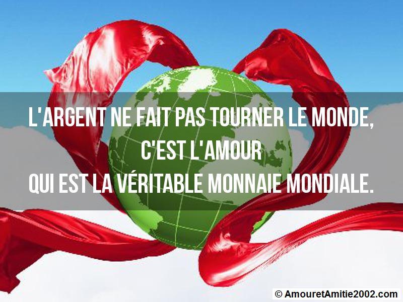 l'argent ne fait pas tourner le monde