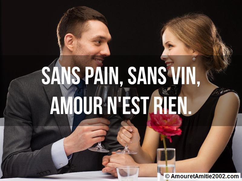 sans pain sans vin amour n'est rien