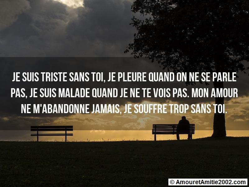 Message Amour Je Suis Triste Sans Toi