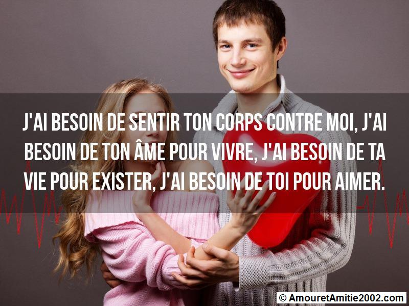 message amour 110