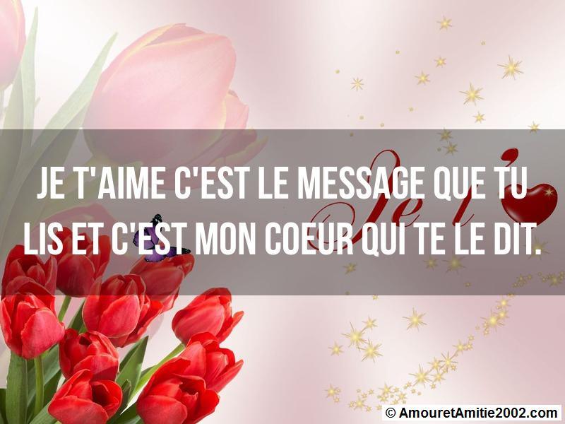 message amour je t 39 aime c 39 est le message que tu lis. Black Bedroom Furniture Sets. Home Design Ideas