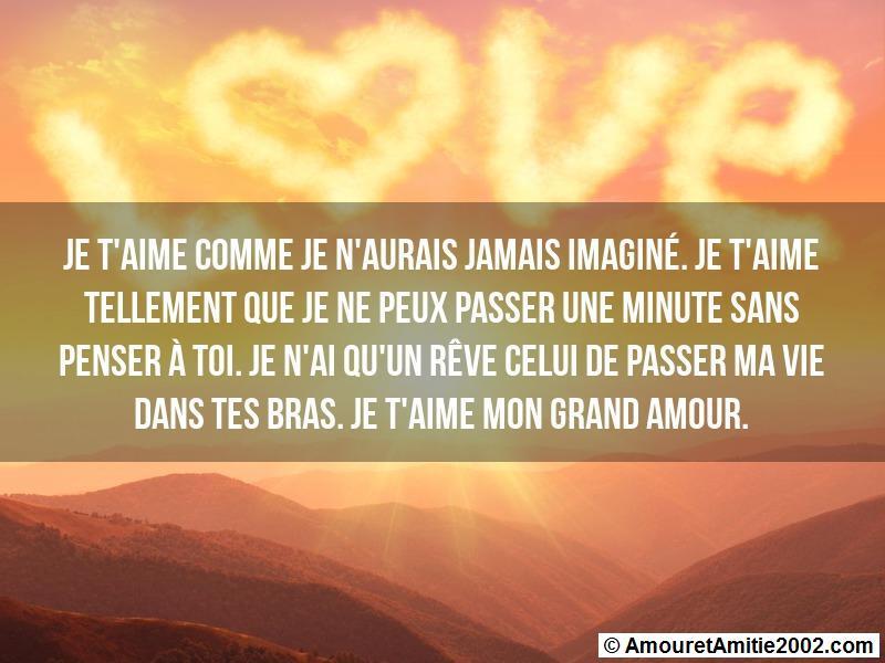 Message Amour Je T Aime Comme Je N Aurais Jamais Imaginé