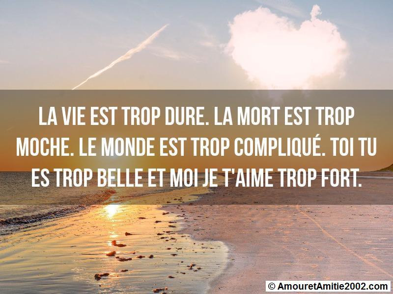 Message Amour La Vie Est Trop Dure
