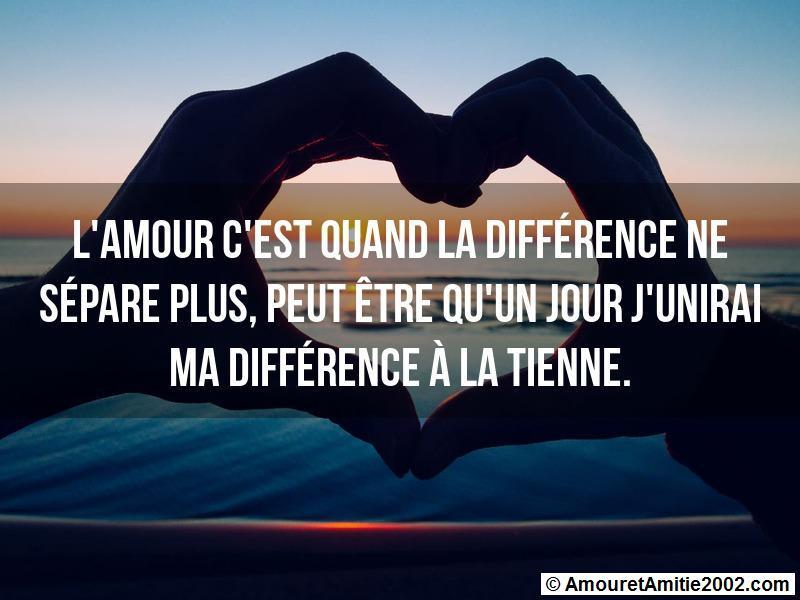 l'amour c'est quand la différence ne sépare plus