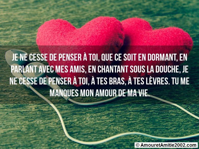 Message Amour Je Ne Cesse De Penser à Toi