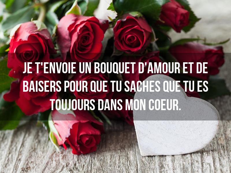 je t'envoie un bouquet d'amour et de baisers