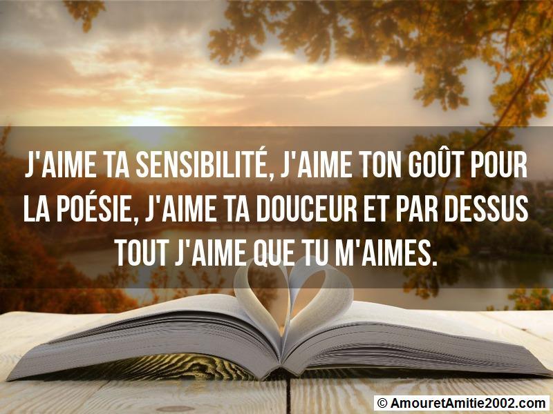 Message Amour Jaime Ta Sensibilité