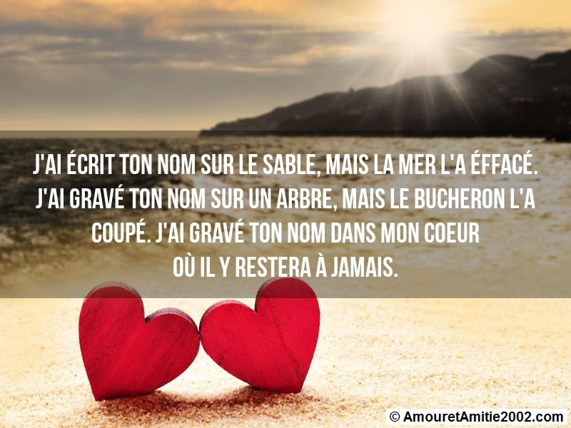 message amour 78