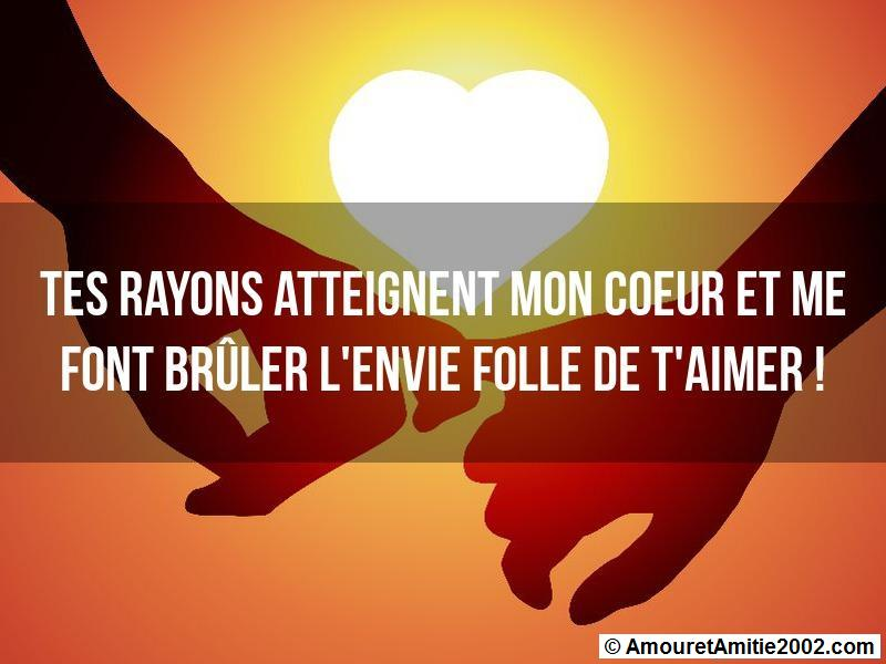 tes rayons atteignent mon coeur
