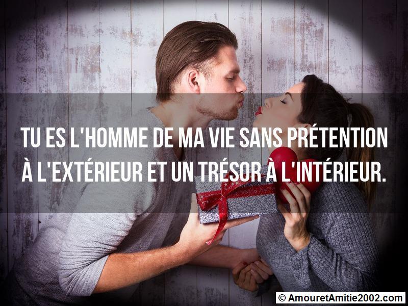 Message Amour Tu Es Lhomme De Ma Vie