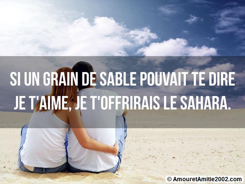 si un grain de sable pouvait te dire je t'aime