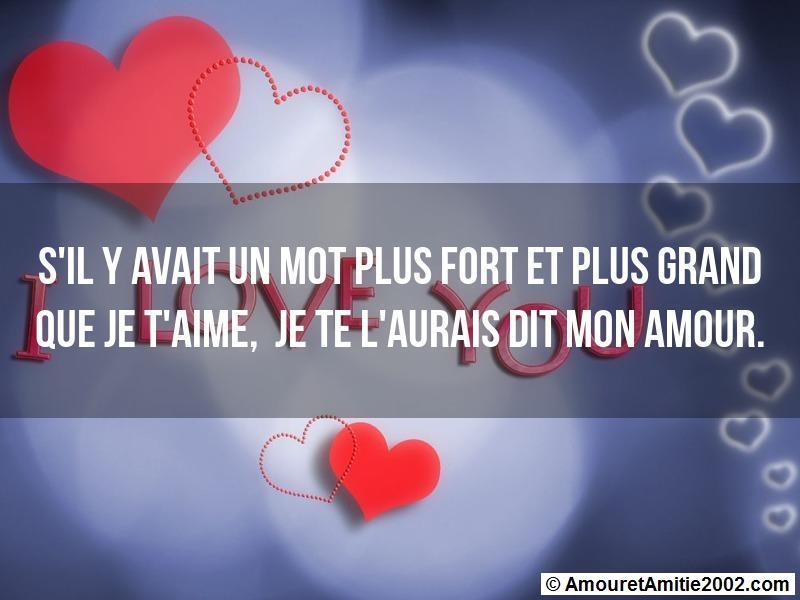 Message Amour Sil Y Avait Un Mot Plus Fort Et Plus Grand