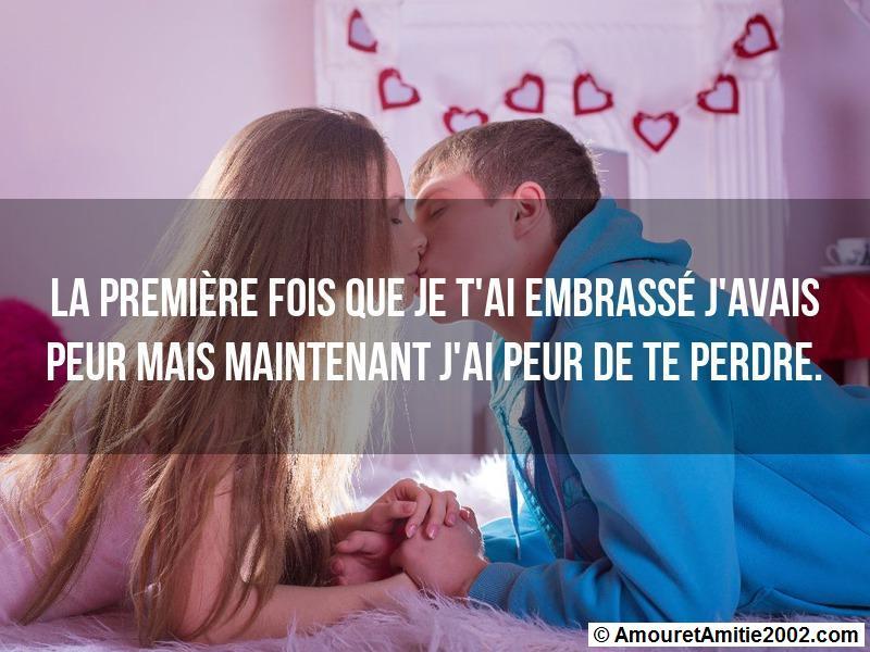 la première fois que je t'ai embrassé