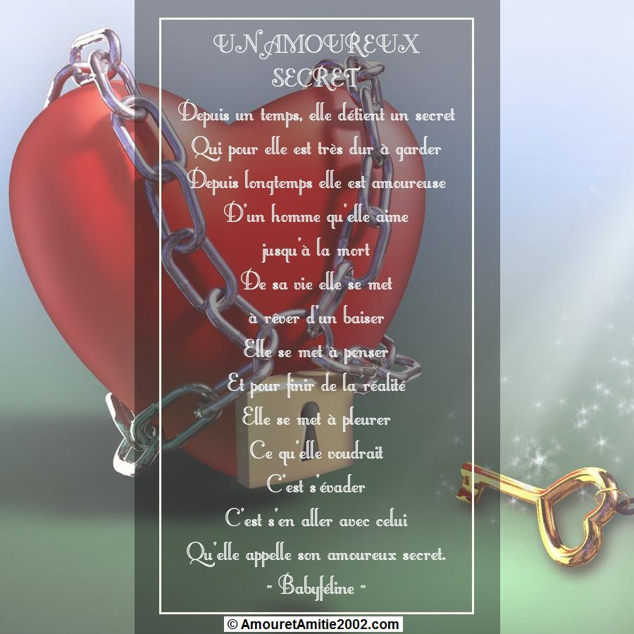 poeme un amoureux secret