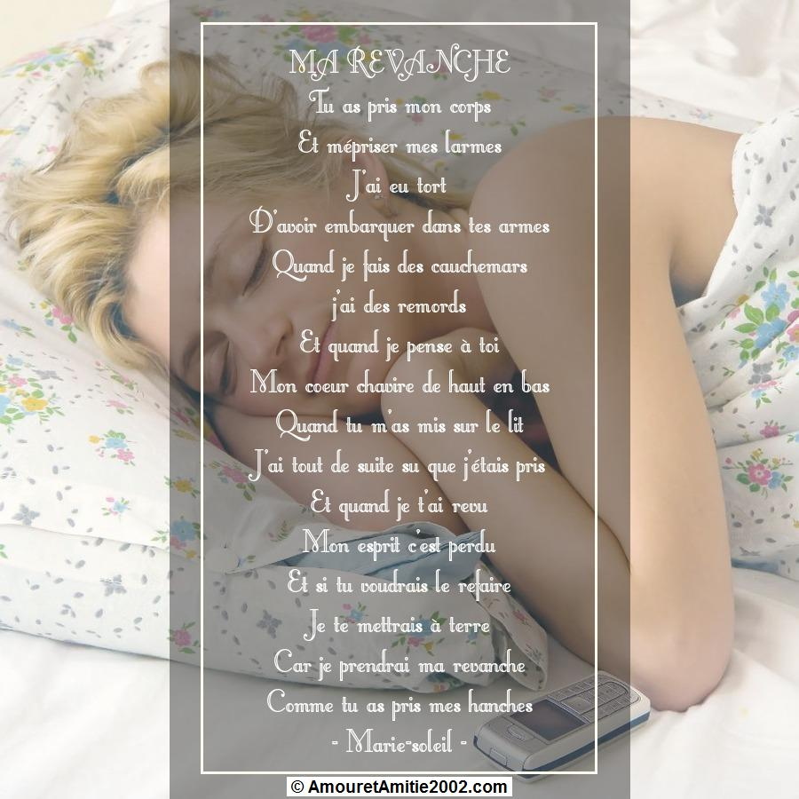 poeme ma revanche