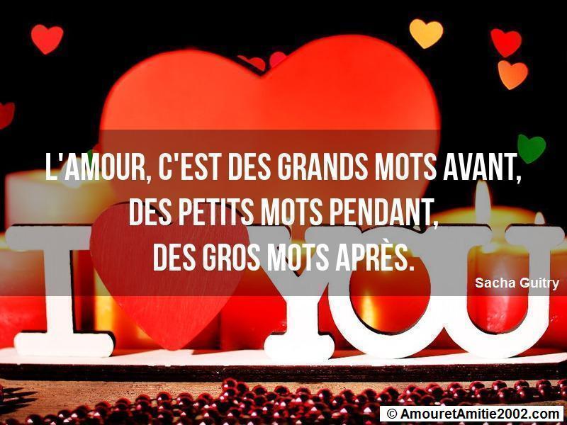 l'amour c'est des grands mots avant