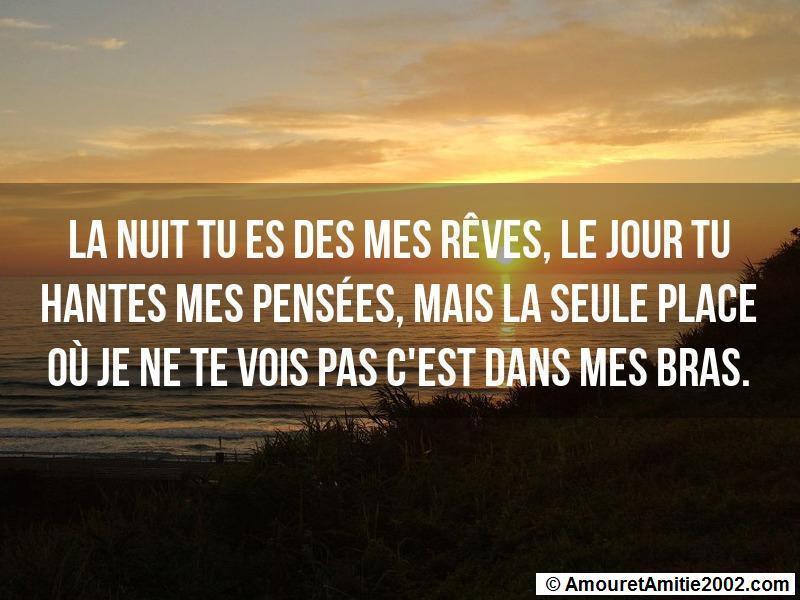 Proverbe Amour La Nuit Tu Es Des Mes Reves