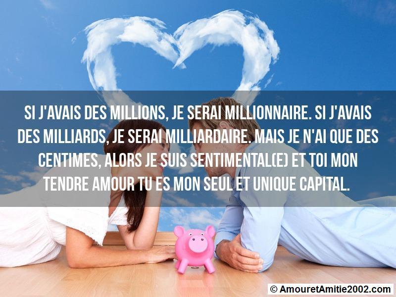si j'avais des millions, je serai millionnaire