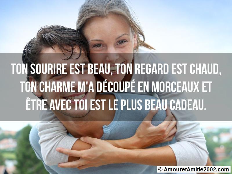 Sms Amour Ton Sourire Est Beau Ton Regard Est Chaud Ton