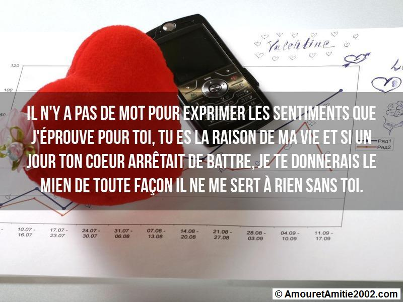 sms d'amour 158
